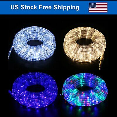 Outdoor/Indoor LED Rope Light  4-Lighting Mode Home Decor 20-50' with Remote