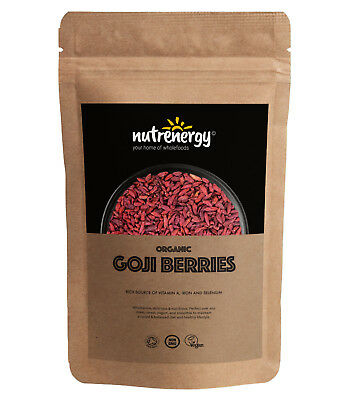 Nutrenergy Raw Organic Goji Berries | Free Tracked Delivery