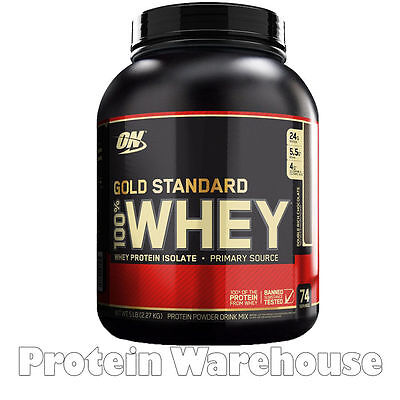 Optimum Nutrition Whey 5lb 2.2 kg Gold Standard 100% On Whey Protein Only £44.85