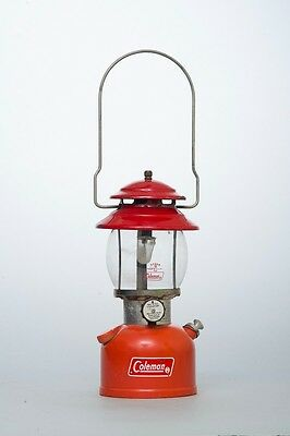 Very Nice Vintage 1976 Coleman Model 200A Red Lantern Single Mantle Untested