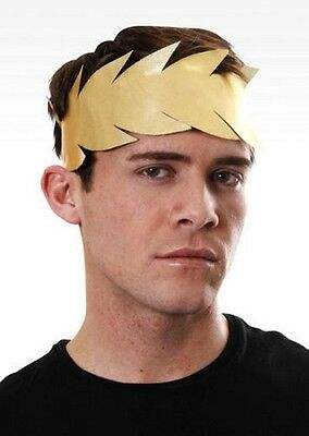 Deluxe Gold Leaf Roman Toga Party Laurel Headdress Caesar Grecian Fancy Dress
