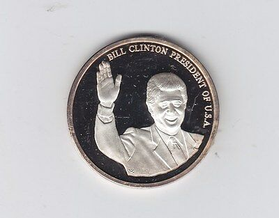 Bill Clinton 42th president of the United States of America Silver Deutch Medal