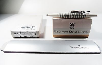 Faber Castell E-Motion Ballpoint Zebra Ivory Gray  Boxed Sticker New Germany