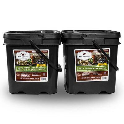 Wise Company 120 Serving Freeze Dried Meat Survival Emergency Food Buckets