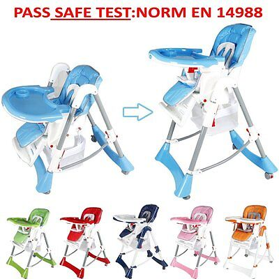 SAFE Foldable baby Travel high chair highchair height Portable feeding seat Toys