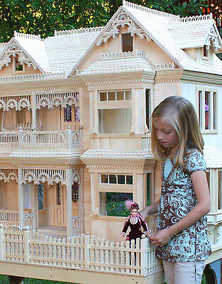 Woodworking plans for making a spacious Victorian Doll House