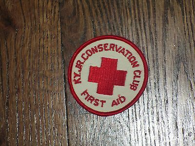 first aid patch,kentucky jr conservation,60's new old stock