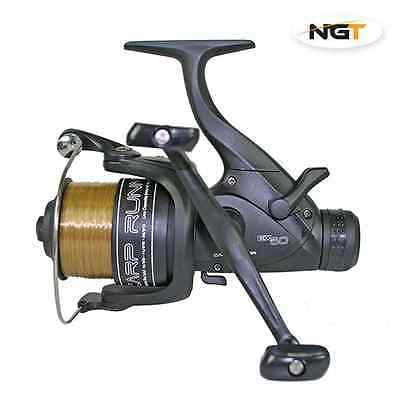 NGT EX60 4BB Carp Runner' Reel With 10lb Line + Spare Spool
