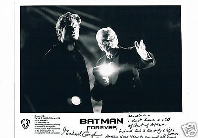 Michael Gough Actor  Batman Forever Vintage Hand signed Lobby card  10 X 8