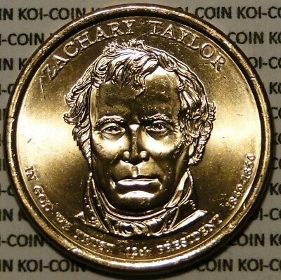 BU UNC 2009 United States US Presidents Zachary Taylor dollar $1 coins P/D