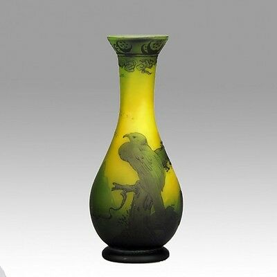 A striking Art Deco Glass Vase by Muller Freres