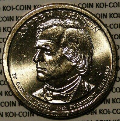 BU UNC 2011 United States US Presidents Andrew Johnson dollar $1 coins P or D