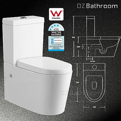 NEW TOILET SUITE Designer BACK TO WALL FACED CLOSE COUPLED SOFT CLOSE TL-02