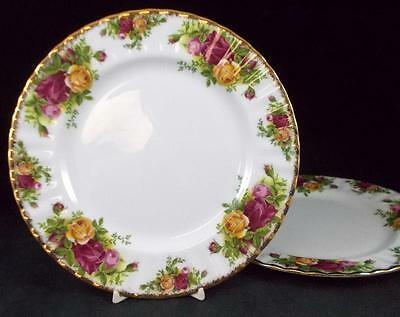 Royal Albert OLD COUNTRY ROSES 2 Salad Plates Bone China GREAT CONDITION