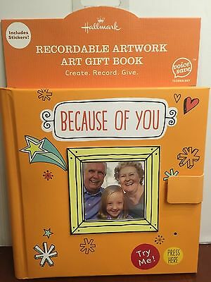 Hallmark Recordable Artwork Art Gift Book Create Record Give Includes Stickers