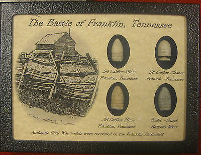 The Battle of Franklin 4 Piece Bullet Collection with COA