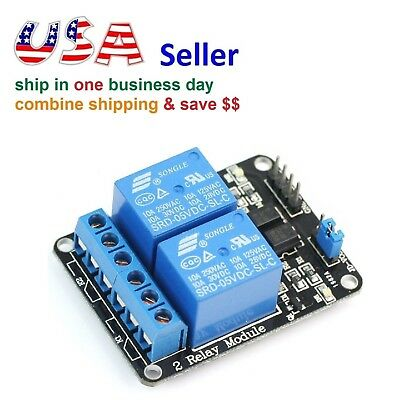 2 Channel Relay Module 5V Control 250V/10A with Optocoupler for Arduino
