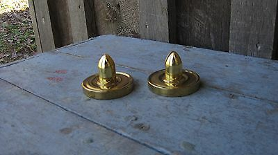 Vintage Good Quality Solid Brass Wall Shelf Brackets Hooks Holders Never Used!
