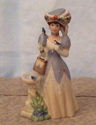 AVON Mrs. Albee Small Figurine Avon Lady Collectible 1998 Display Case Dome