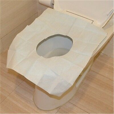 New Useful 1 Pack 10Pcs Disposable Covers Paper Toilet Seat Covers BE