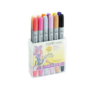 COPIC Marker CIAO 12er Set WITCH  in Acryl-Display            + Farbkarte GRATIS