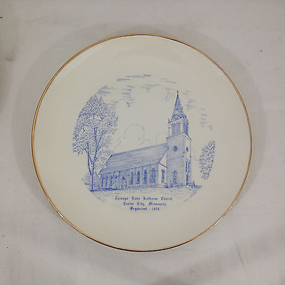 CHISAGO LAKE LUTHERAN CHURCH Center City Minnesota Homer Laughlin Rhythm Plate