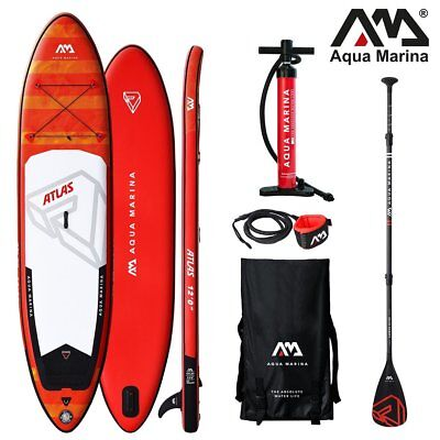 AQUA MARINA Monster SUP inflatable Stand Up Paddle Surfboard Carbon Paddel