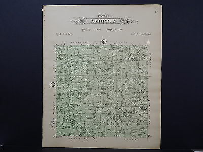 Wisconsin, Dodge County, 1910 Plat Map, Ashippun Township, Double Sided