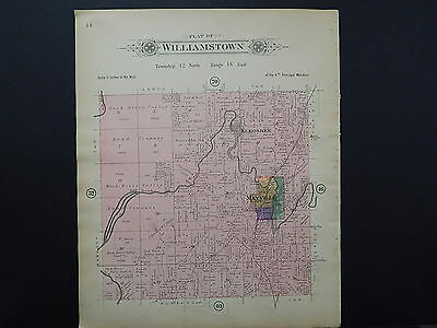Wisconsin, Dodge County Map 1910 Williamstown Township Double Sided J20#66
