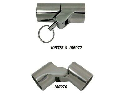 Marine Town Canopy Tube Hinge S/s 25Mm-1 With Pin 195077