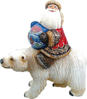 "G Debrekht Global Journey Santa On Polar Bear 10"" 821074 Limited Edition"