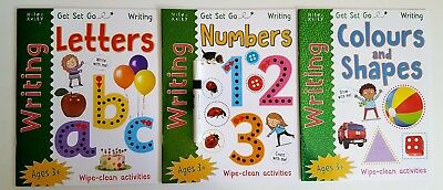 abc's, numbers & colours and shapes (set of 3 wipe clean workbooks)