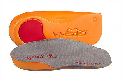 Vivesole By Bodytec 3/4 orthotic super slim fit insoles plantar fasciitis relief