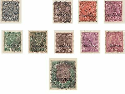 (IC-402) 1926-35 India part 10set official stamps (C)