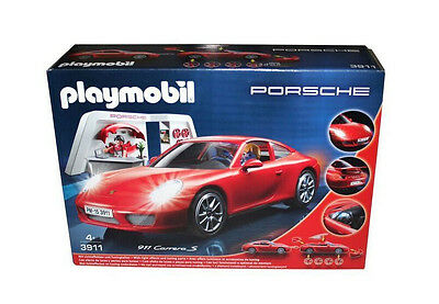 playmobil 3911 porsche rot mit lichteffekten und. Black Bedroom Furniture Sets. Home Design Ideas