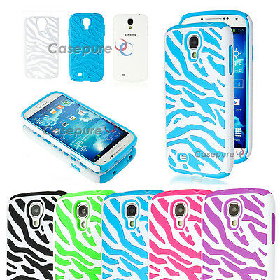 Lot of 5 Zebra Hybrid Hard Case Silicone Cover For Samsung Galaxy S4 S IV i9500