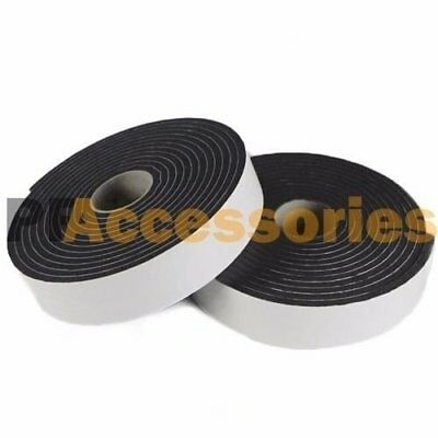"2 Roll 2/3"" x 16 FT Double Sided Faced Foam Attachment Adhesive Mount Tape Black"
