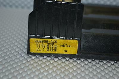 One Used Buss 3Ph Fuse Block R60060-3C