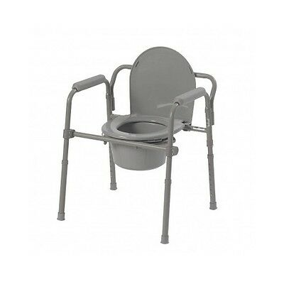 Handicap Portable Toilet Medical Elderly Seat Bedside Folding Potty Commode chai