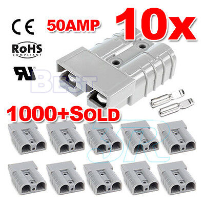10X 12-24V Premium Exterior 50AMP Anderson Plug Style Connector DC Power