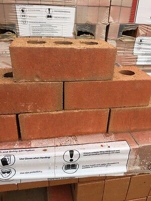 Hanson 73mm Red Engineering/Smooth Bricks, House, Cheap, 336 Per pack