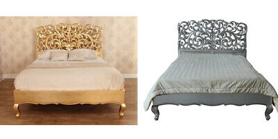 Silver / Gold La Rochelle French Style Rococo Bed 5' King or 6' Super King B098