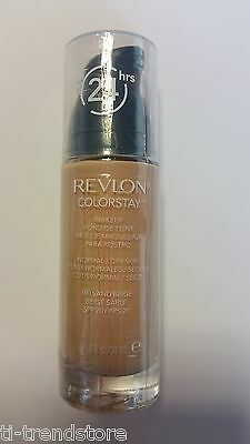 Revlon ColorStay Makeup for Normal/Dry Skin Make Up Fondation 180 Sand Beige Neu