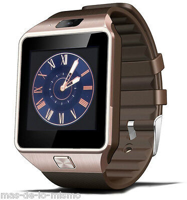 Reloj Inteligente DZ09 Bronze Ranura SIM m-SD Bluetooth compatible Android / iOs