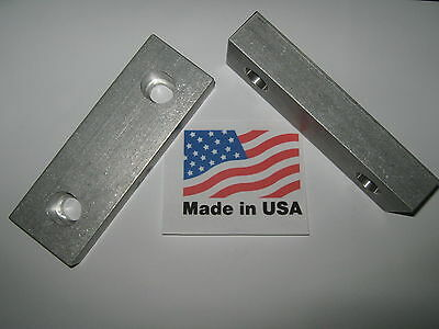 "VISE JAWS 6"" x 2"" x 1"" Reversable Machinable Steel Jaws for Kurt and Others USA!"