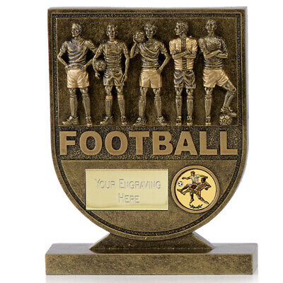 Ft166A  Icon Football Trophy Size 12.5 Cm Free Engraving