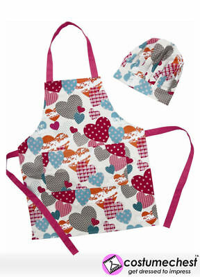 Sugar & Spice Hearts Apron & Chef's Hat Set by Shreds