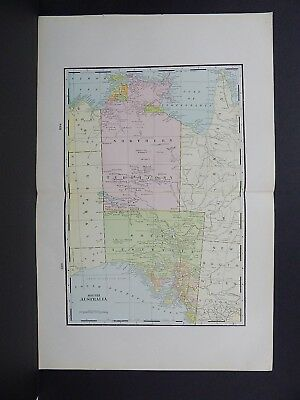 Map of South Australia George F. Cram 1901 Double Page W17#76