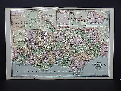 Map of Victoria George F. Cram 1901 Double Page W17#78