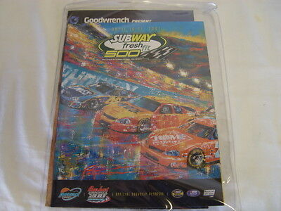 2007 NASCAR Subway Fresh Fit 500 Program & Dale Earnhardt Movie Poster Phoenix